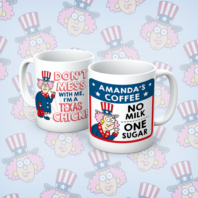 Aunty Acid Texas Chick Personalised Mug - The Official Aunty Acid Store