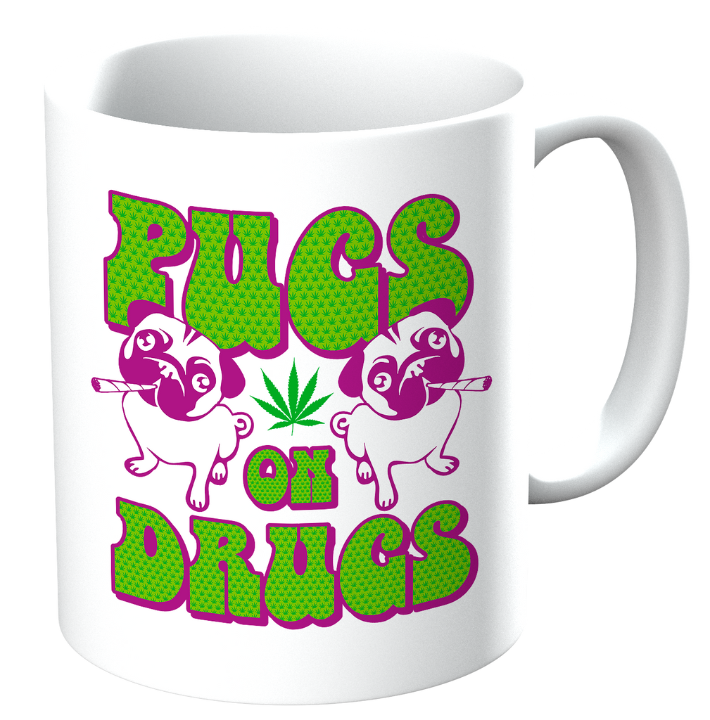 Potheads Pugs On Drugs Mug - The Official Aunty Acid Store