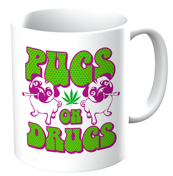 Potheads Pugs On Drugs Mug
