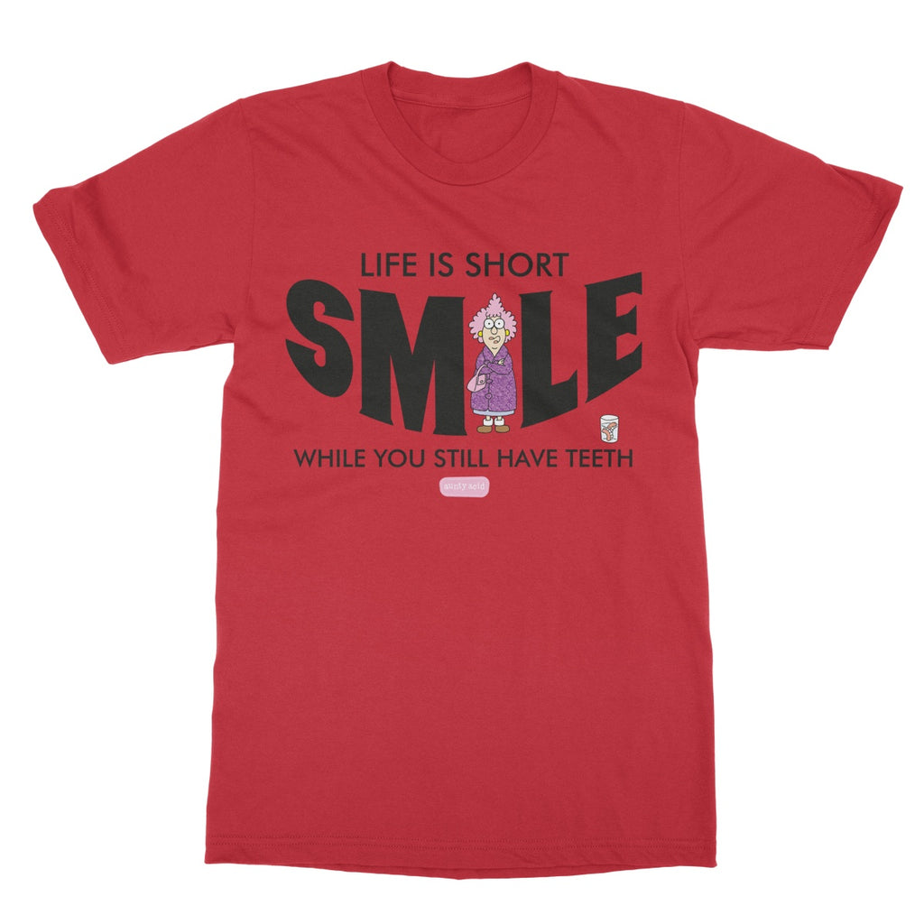 Aunty Acid Smile Softstyle T-Shirt - The Official Aunty Acid Store