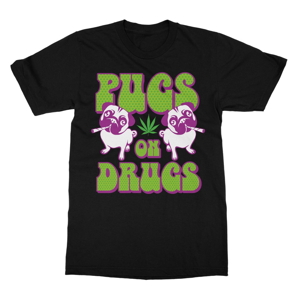 Potheads Pugs on Drugs T-Shirt - The Official Aunty Acid Store