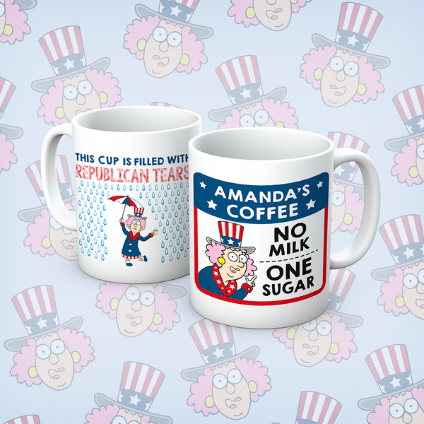 Aunty Acid Republican Tears Personalised Mug - The Official Aunty Acid Store