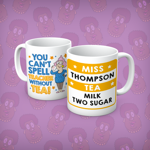 Aunty Acid Teacher Without Tea Personalised Mug - The Official Aunty Acid Store