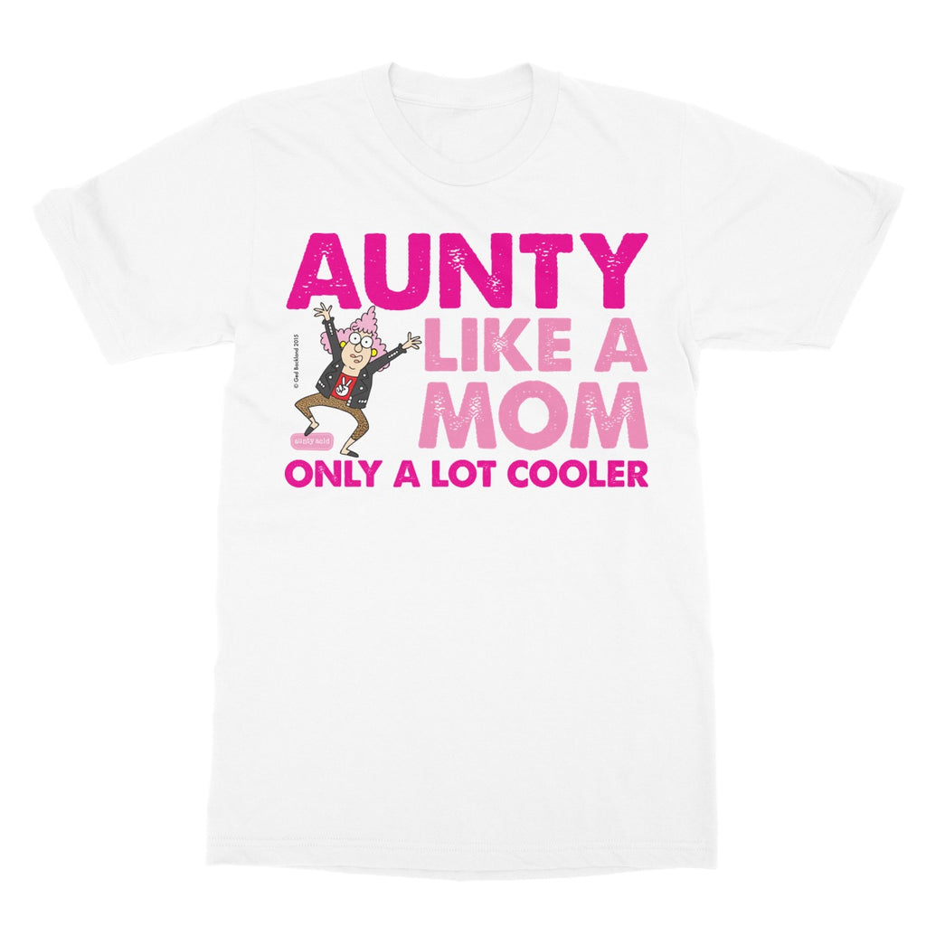Aunty Acid 'Aunty Like A Mom' Softstyle T-Shirt - The Official Aunty Acid Store