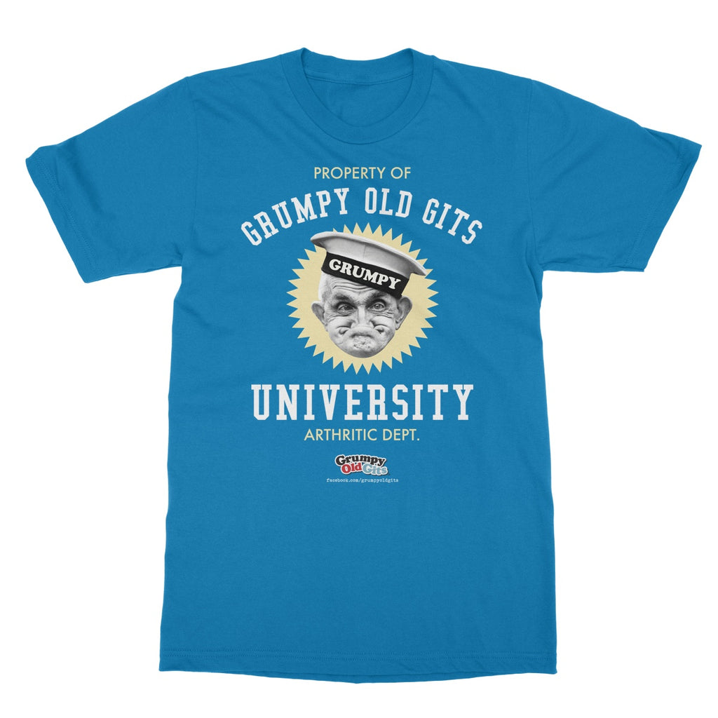 Grumpy Old Gits University T-Shirt - The Official Aunty Acid Store