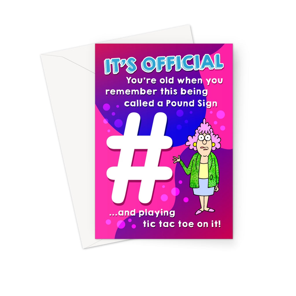 Hashtag Greeting Card
