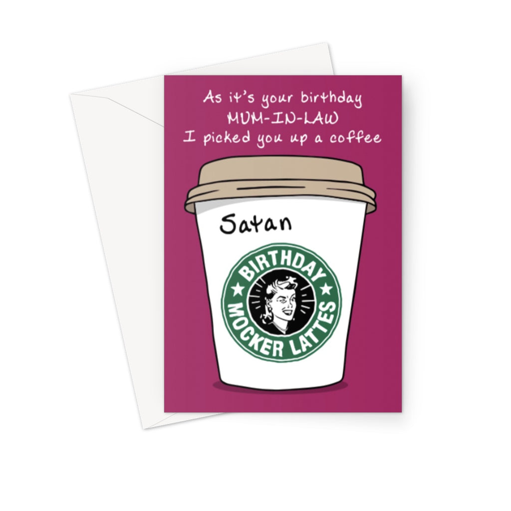 Satan Greeting Card - The Official Aunty Acid Store