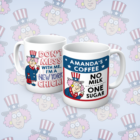 Aunty Acid New York Chick Personalised Mug - The Official Aunty Acid Store
