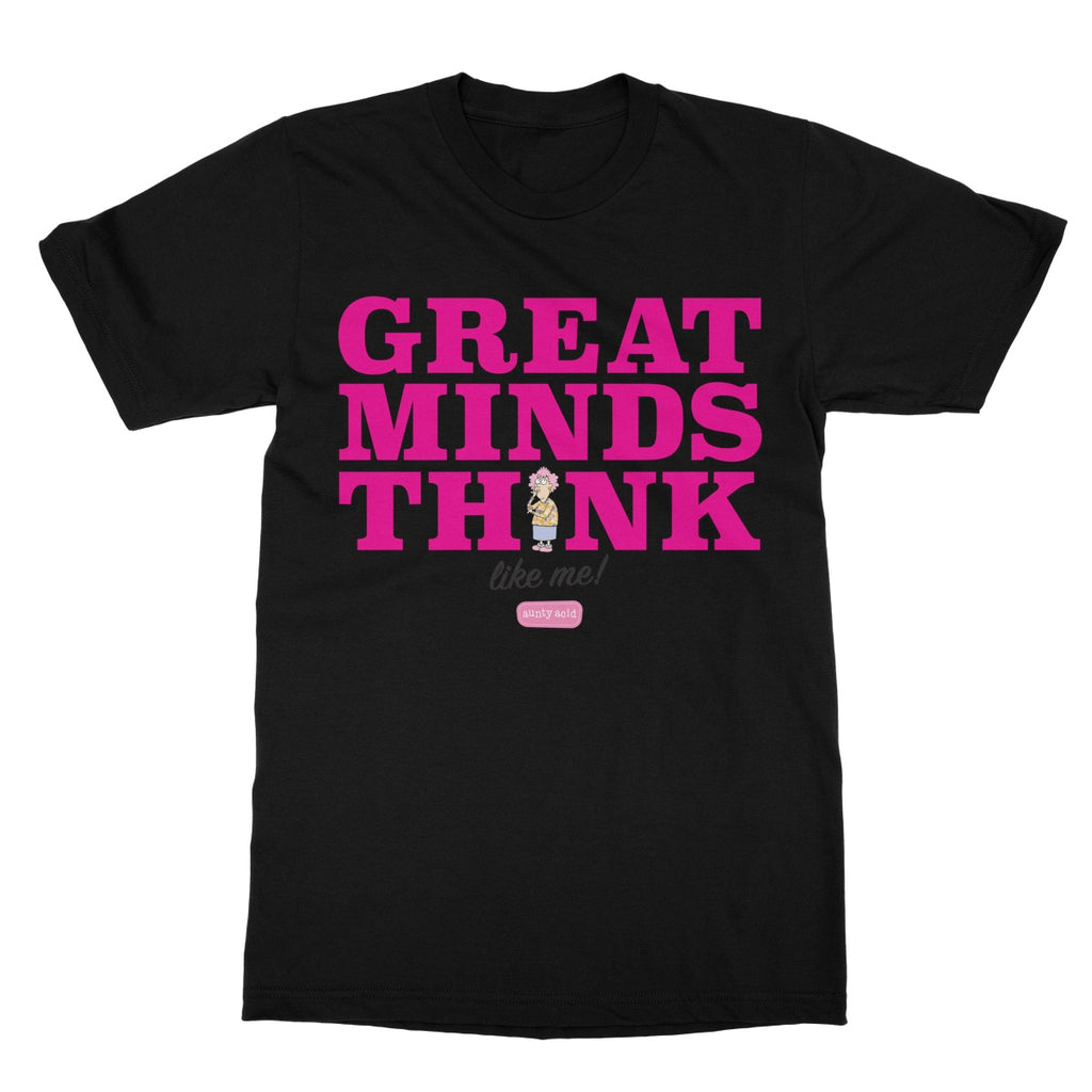 Aunty Acid Great Minds Softstyle T-Shirt - The Official Aunty Acid Store