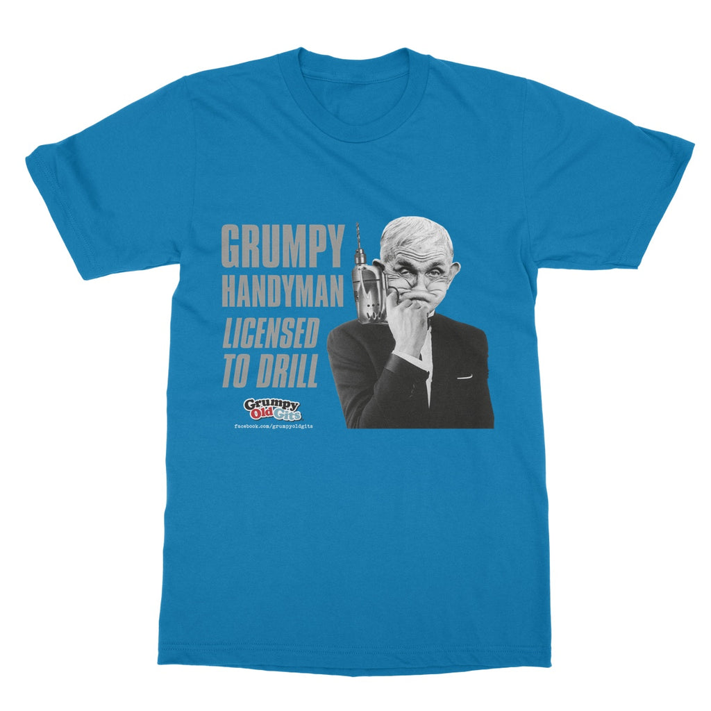 Grumpy Old Gits Drill T-Shirt - The Official Aunty Acid Store