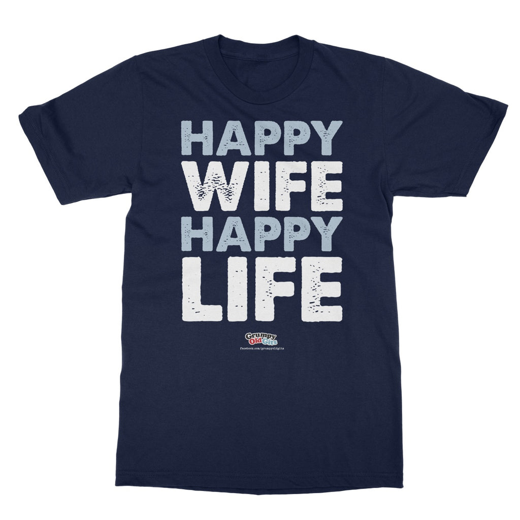 Grumpy Old Gits Happy Wife T-Shirt - The Official Aunty Acid Store