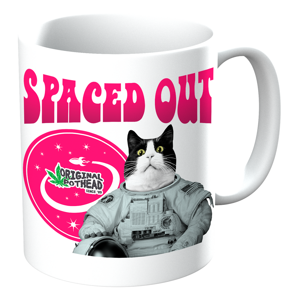 Potheads Spaced Out Cat Mug - The Official Aunty Acid Store