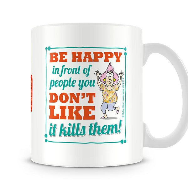 Aunty Acid Be Happy Mug - The Official Aunty Acid Store