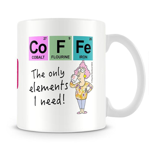 Aunty Acid Elements Mug - The Official Aunty Acid Store