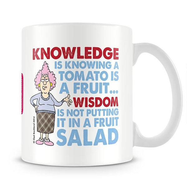 Aunty Acid Knowledge And Wisdom Mug