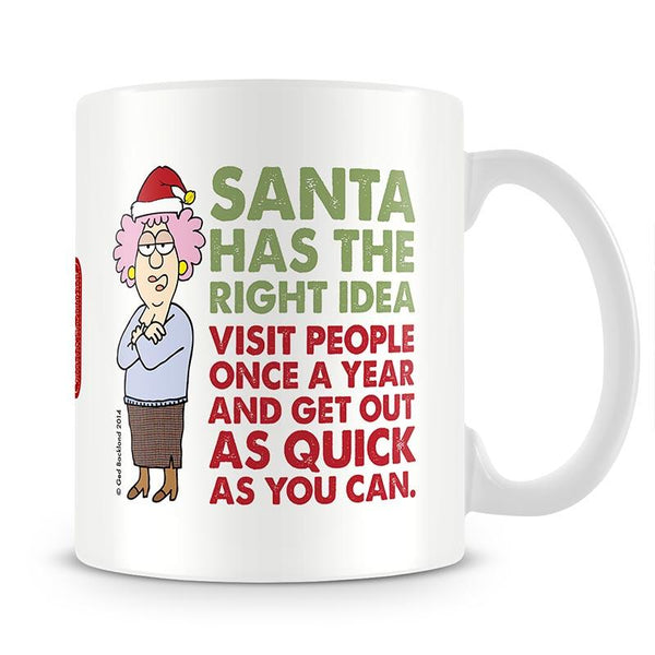Aunty Acid Santa Mug - The Official Aunty Acid Store