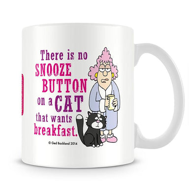 Aunty Acid Snooze Button Cat Mug - The Official Aunty Acid Store