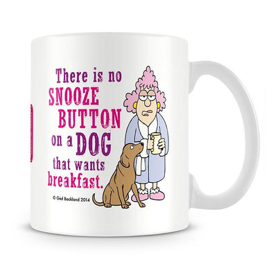 Aunty Acid Snooze Button Dog Mug - The Official Aunty Acid Store