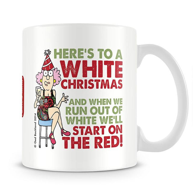 Aunty Acid White Christmas Mug - The Official Aunty Acid Store