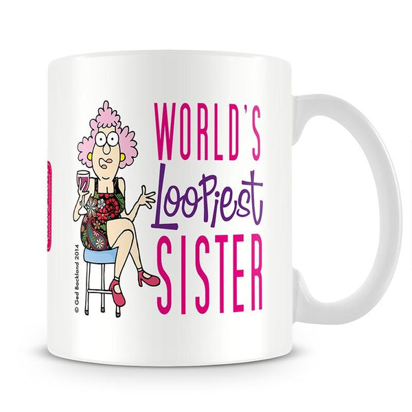 Aunty Acid Worlds Loopiest Sister Mug - The Official Aunty Acid Store