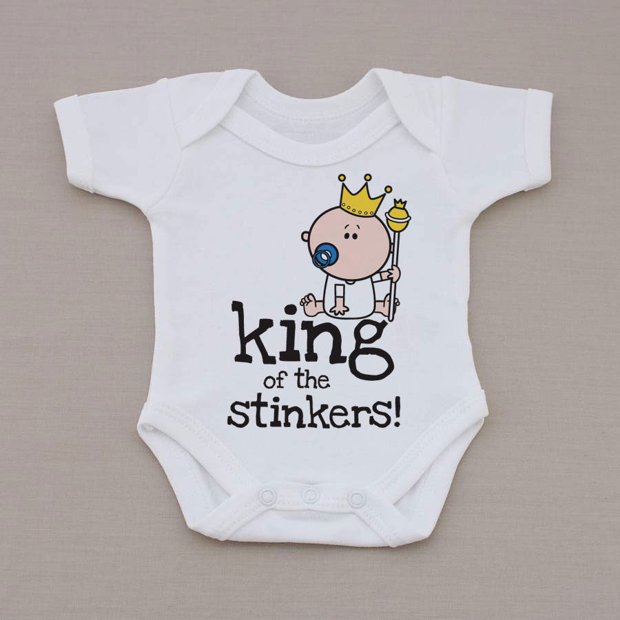 Goochicoo King Of The Stinkers Babygrow