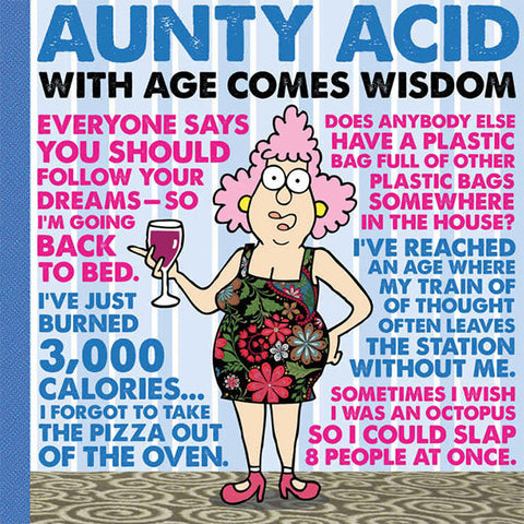 Aunty Acid Wisdom Hardcover Book