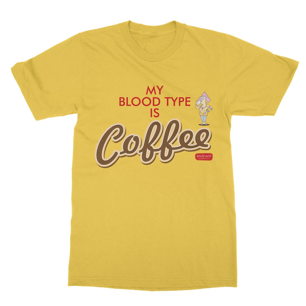 Aunty Acid Blood Type Coffee Softstyle T-Shirt - The Official Aunty Acid Store