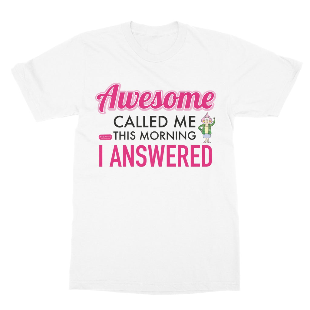 Aunty Acid 'Awesome Called'   Softstyle Gift T-Shirt - The Official Aunty Acid Store