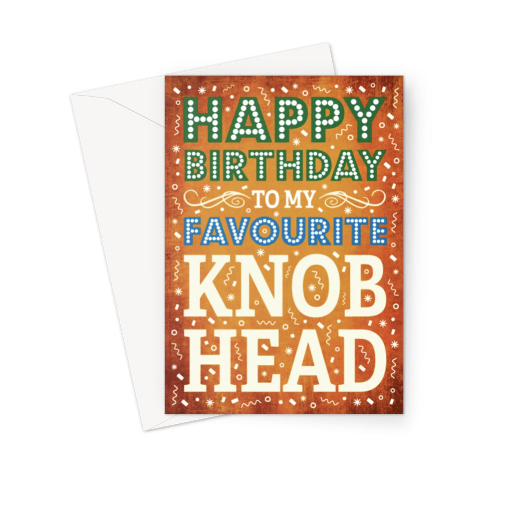 Knob Head Greeting Card - The Official Aunty Acid Store