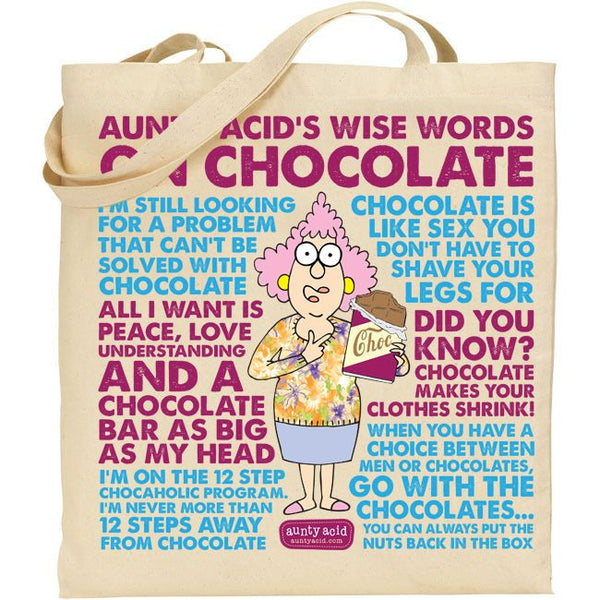 Aunty Acid Choc Tote Bag - The Official Aunty Acid Store