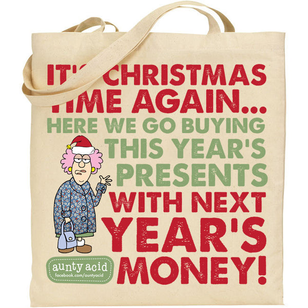 Aunty Acid Christmas Time Again Tote Bag - The Official Aunty Acid Store