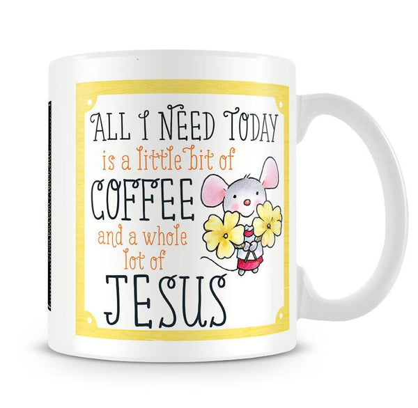 Little Church Mouse Coffee & Jesus Mug - The Official Aunty Acid Store