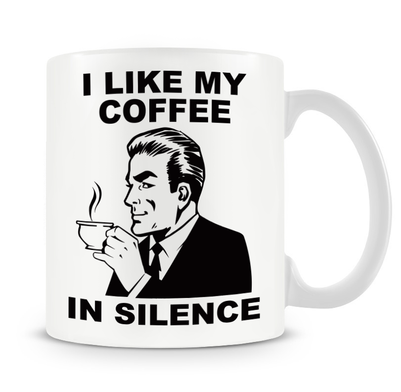 Grumpy Old Gits Coffee In Silence Mug - The Official Aunty Acid Store