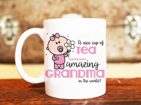 Goochicoo Cup Of Tea For Grandma Mug - The Official Aunty Acid Store