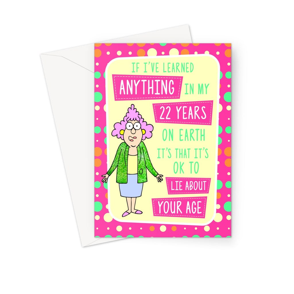 22 Greeting Card - The Official Aunty Acid Store