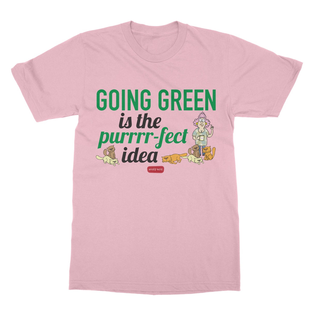Aunty Acid Going Green Softstyle T-Shirt - The Official Aunty Acid Store