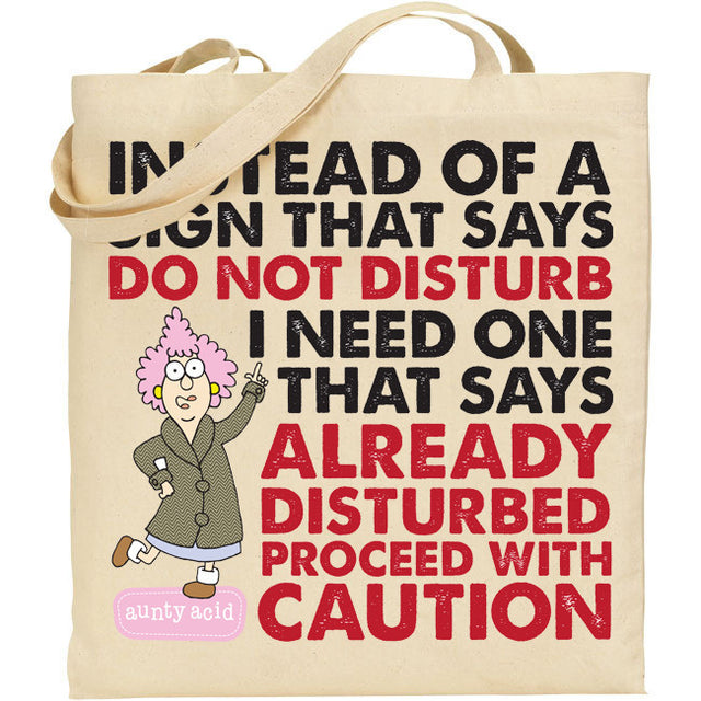 Aunty Acid Disturb Tote Bag - The Official Aunty Acid Store