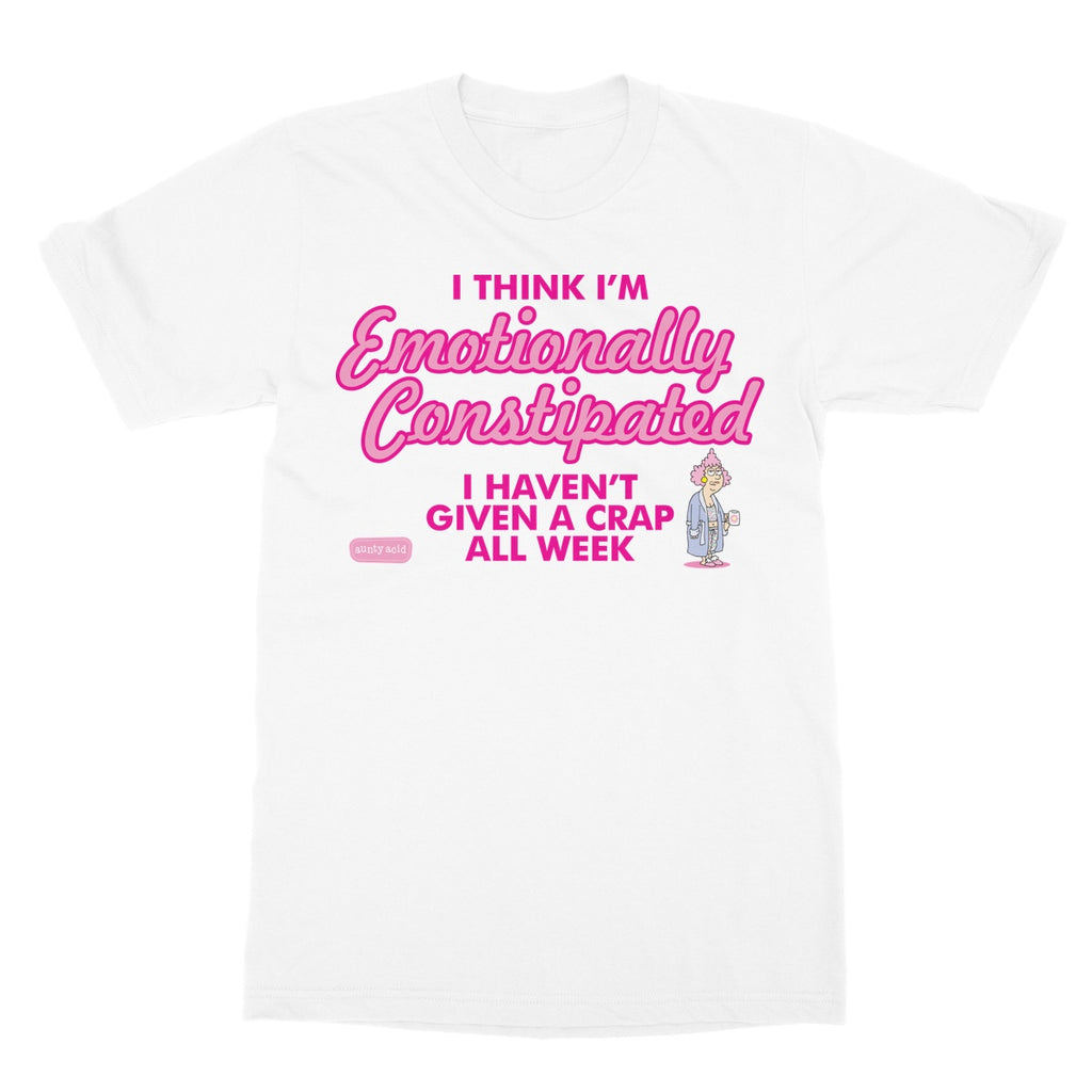 Aunty Acid Emotionally Constipated Softstyle T-Shirt - The Official Aunty Acid Store