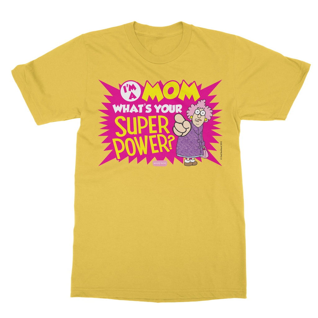 Aunty Acid Superpower Softstyle T-Shirt - The Official Aunty Acid Store