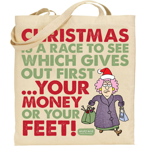 Aunty Acid Money Or Feet Tote Bag