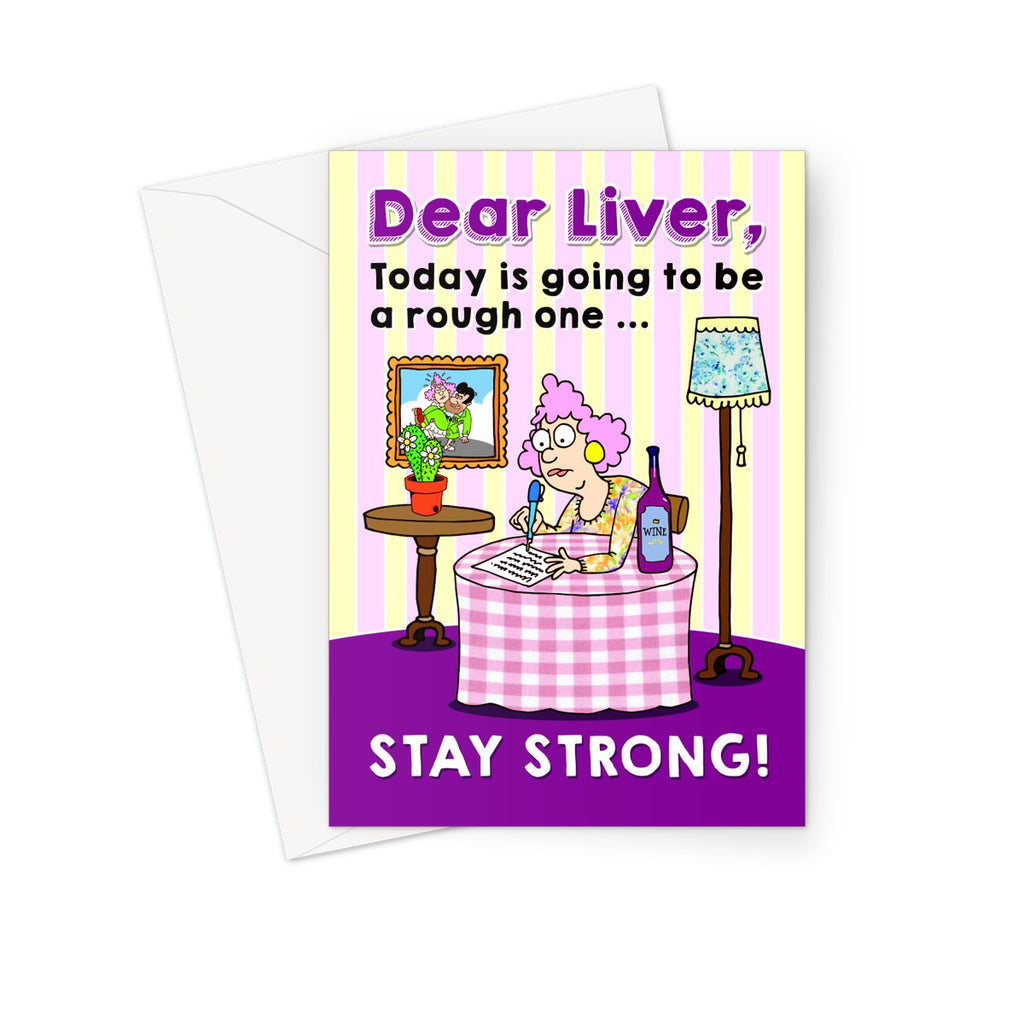 Dear Liver Greeting Card - The Official Aunty Acid Store