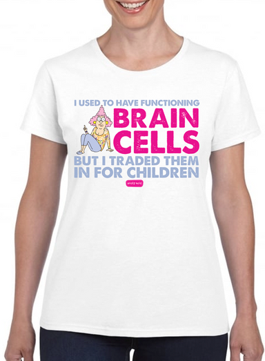 Aunty Acid  Brain Cells T-Shirt - The Official Aunty Acid Store
