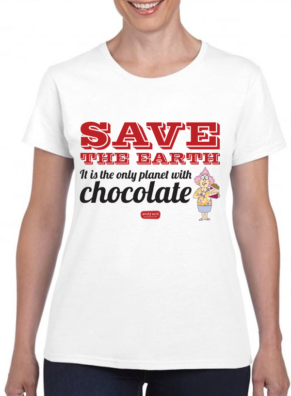 Aunty Acid Save Chocolate T-Shirt - The Official Aunty Acid Store