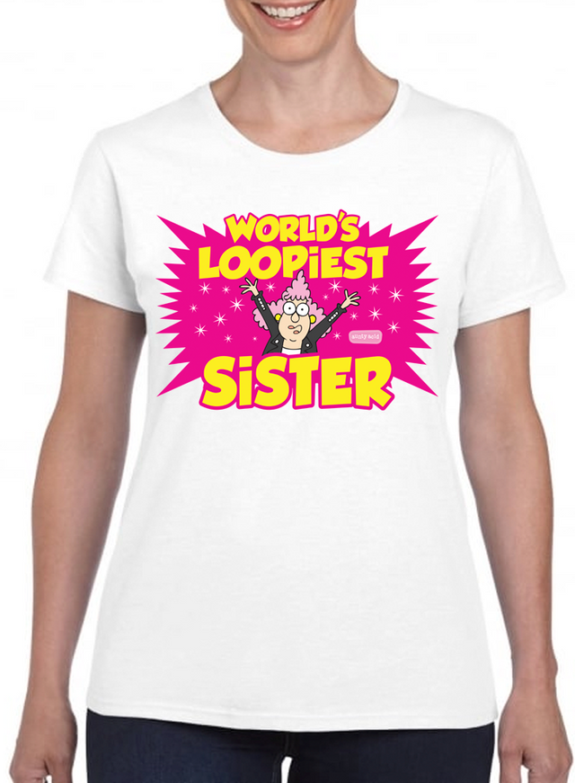 Aunty Acid Loopiest Sister T-Shirt - The Official Aunty Acid Store