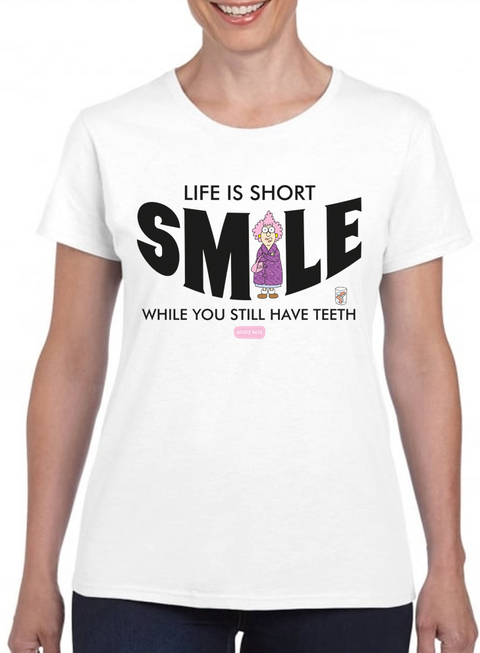 Aunty Acid Smile T-Shirt - The Official Aunty Acid Store