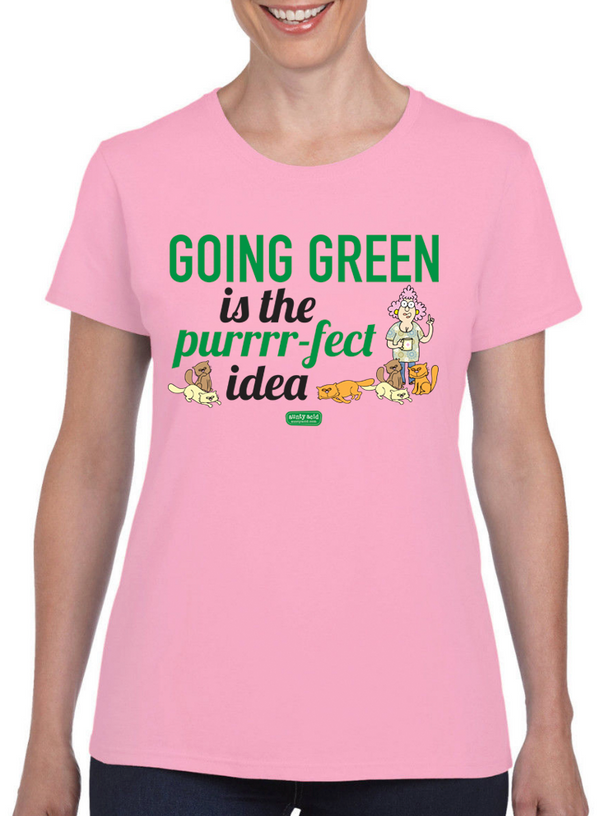 Aunty Acid Going Green T-Shirt - The Official Aunty Acid Store