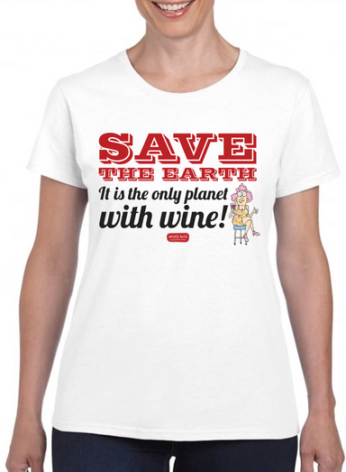 Aunty Acid Save Wine T-Shirt - The Official Aunty Acid Store
