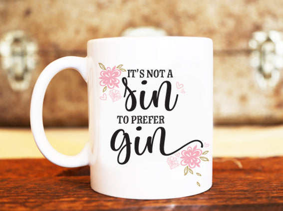 Goochicoo Not A Sin To Prefer Gin Mug - The Official Aunty Acid Store