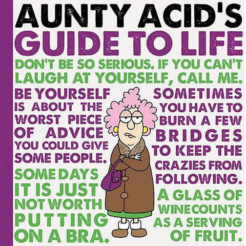 Aunty Acid Guide Life Hardcover Book - The Official Aunty Acid Store
