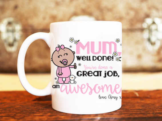 Goochicoo Great Job Mum Personalised Mug - The Official Aunty Acid Store